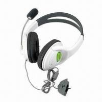 Buy cheap Sensational Headsets/Earphones for XBOX360 Game Accessories, Lightweight and Comfortable to Use product
