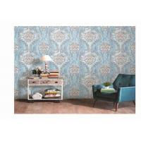 Quality Washable PVC Vinyl Wallpaper Damask  Design Classic For Living Room for sale