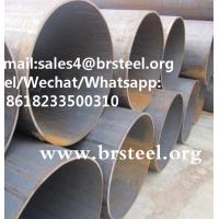 Quality hot sale astm a53 st35 api 5l gr.b x46 x52 lsaw welded black pipe sizes for sale