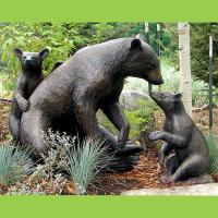 Quality Large Animal Metal Craft Sculpture Bronze Casting Life Size Bear  Family Garden Statue For Sale ...