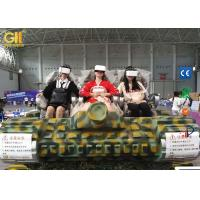 Buy cheap Camouflage 6 Seater Electric VR Tank Simulator / 9D Adventure Extreme Cinemas product
