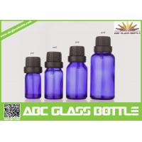 Buy cheap Factory Sale 5ml 10ml 15ml 30ml Blue Glass Bottle With Pilfer Proof Cap product