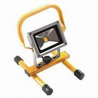 Buy cheap 10W Floodlight with Portable Handle, 90lm/W High Bright LED, More than 30,000 Hours Lifespan product