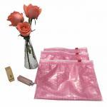 Buy cheap Pink cosmetic item packaging ziplock air bubble bag zip top bubble bag product