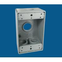 Buy cheap 1 Gang Waterproof Electrical Box / Exterior Outlet Box With 4 Outlet Holes product