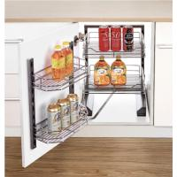 Buy cheap Tall Larder Unit Soft Stop Tandem Pantry Unit Modern Kitchen Basket For Home Decoration product