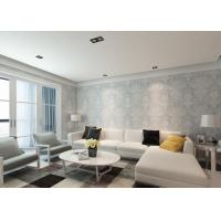 Buy cheap Ivory White Damask Pattern Victorian Wallpaper for Interior Decoration , Anti - static product