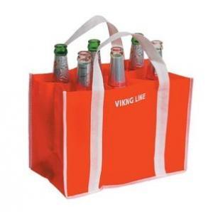 Buy cheap 6 bottle reusable drink non woven wine bag product