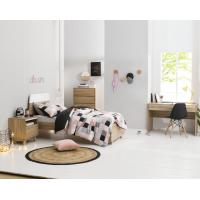 Buy cheap Apartment Furniture Space Saving Bedroom Modern Design of Single Bed with Nightstand in Fashion interior Desk product