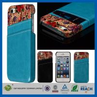 Buy cheap Flower Leather Pocket Back Hard Iphone 5 5S Apple Cell Phone Cases With Card Holder product