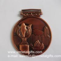 China 3D Hong Kong Tournament metal medals and medallions, 3D embossed vintage medals, wholesale