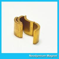 Buy cheap Permanent Neodymium Motor Magnets NiCuNi Coating Bright Silver Color product