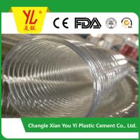 Buy cheap large diameter pvc spiral steel wire reinforced suction hose product