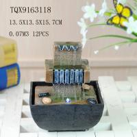 Customized Polyresin Tabletop Water Fountains With Lights Color Changing