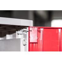 Buy cheap Corrosion Proof ABS Plastic Lockers Red Door 5 Tier Lockers With Clover Keyless Lock product