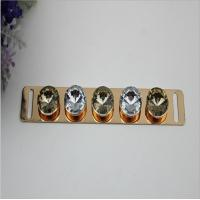 Buy cheap Hot selling iron material light gold diamond decorative shoes metal buckles product