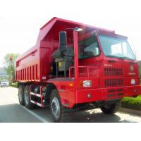 Buy cheap HOVA 60 Ton 6x4 Mining Heavy Duty Dump Truck for Transport , Red product