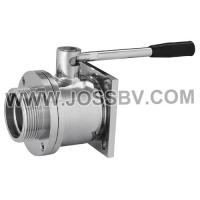 Buy cheap Stainless Steel Sanitary Flange Type Ball Valve For Brewing product