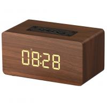 Buy cheap Wooden Wireless Alarm Clock Bluetooth Speaker with mp3 display bookshelf speaker product