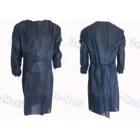China Dark Blue Non Woven Disposable Isolation Gowns Long Sleeve For Medical Surgical Procedures on sale