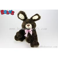 "Buy cheap 11"" Dark Brown Cute Rabbit Stuffed Animal In Wholesale Price product"