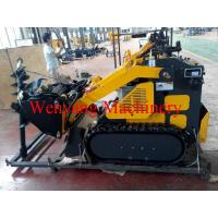 China mini track skid steer loader with 4 in 1 bucket with earth auger on sale