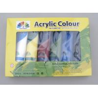 Buy cheap 6 X 75ml Acrylic Paint Tubes Acrylic Paint Starter Colors Set For Wood / Paper / from wholesalers