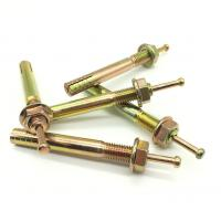 Buy cheap Zinc Plated Expansion Anchor Bolt / Hit Anchor with Flange Nut product