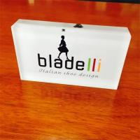 Buy cheap customed Transparent Acrylic Paperweight with logo product