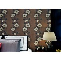 Buy cheap Floral Interior House Decoration Wallpaper With Non Woven Materials , Brown Color product