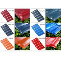 Buy cheap Color Coated Corrugated Pvc Synthetic Resin Roof Tile Spanish Style 1050mm Width product