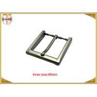 Buy cheap 40mm Square Zinc Alloy Custom Metal Belt Buckles With CNC Engraved Logo product