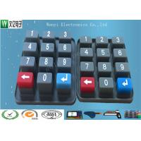Buy cheap Eco Friendly Waterproof Custom Silicone  Rubber Keypad  With Carbon Pill product