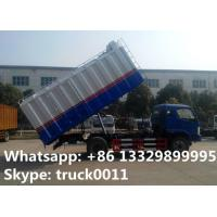 China 18cubic meters bulk grains farm delivery truck for sale, best price bulk grains self-sucking discharging van truck on sale