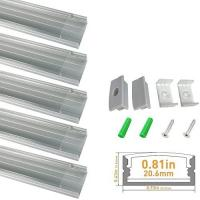 Buy cheap clear led aluminum channel u shape 2m anodized sliver profile for product