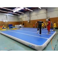 Buy cheap Blue Top Inflatable Air Track Mat For Fitness Center Training Customized Pressure product
