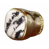 Buy cheap Unique Design Gold color Metal Zamac Perfume Bottle caps cover with stone product