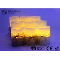3pk LED candle FlamelessCandle Christmas candle painting with silkribbon