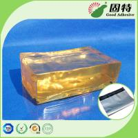 Buy cheap Yellow PSA Hot Melt Adhesive Synthetic Polymer Resin For Courier Bag Sealing product