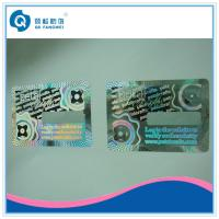 Buy cheap 3D Holographic Anti-counterfeit abel With Coating / Custom Hologram Stickers With Coating product