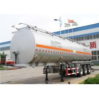 China 3 Axles 60 cbm aluminum Alloy Fuel tanker semi trailer / oil tank trailer wholesale