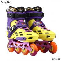 Buy cheap Men Women Blade Skating Shoes Street Slalon Inline Skate Shoes 4 Wheels Roller Patins Shoe Yellow Purple Color  (DA1006) product