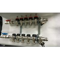 Buy cheap Double Hand Wheels Underfloor Heating Manifold With Stainless Steel 201 product