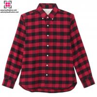 Buy cheap Wholesale Custom Women Cotton Plaid Long Sleeve Shirt product