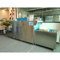 180L Kitchen Plates Washing Machine , Commercial Dishwasher For Coffee Shop 59KW