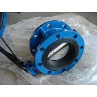 CL150/PN16 CAST IRON GG25/GGG40 NBR/EPDM Rubber Wafer / Double Flanged BUTTERFLY VALVE