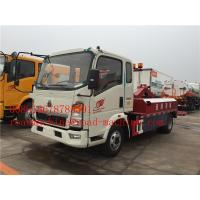 China 120HP Engine Lifting 5000KG / 5T Light Flatbed Tow Truck For Car Accident on sale
