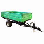 Buy cheap 2wheel Tractor end dump trailer  load capacity 1ton 2ton 3ton 4ton 5ton product
