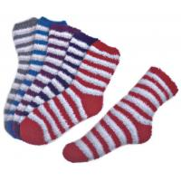 Buy cheap Stripe pattern ,Aloe Infused SPA Socks polyester plush therapy spa sock product