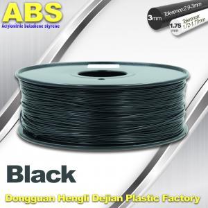 Black 1.75mm /3.0mm 3D Printer Filament , Ultimaker 3D Printer Consumables ABS Filament